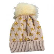 Lurex Star Beanie Hat in