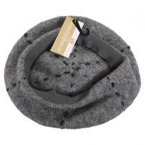 Stitch Pom Wool Beret in
