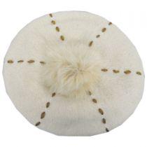 Stitch Pom Wool Beret alternate view 8