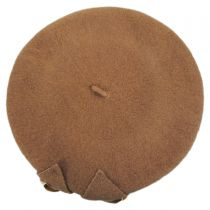 Velvet Bow Wool Beret in