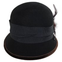 Zip Button Wool Cloche Hat alternate view 2