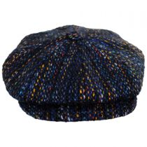 Donegal Striped Wool Newsboy Cap in