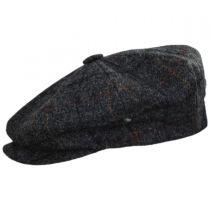 British Check Wool Newsboy Cap in