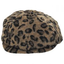 Brood Leopard Wool Blend Newsboy Cap in