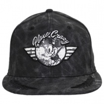 Plane Crazy Mickey Mouse Snapback Baseball Cap in