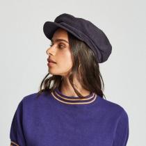 Relaxed Linen Blend Packable Fiddler Cap in