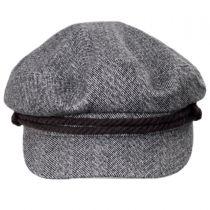 Herringbone Tweed Fiddler Cap alternate view 2