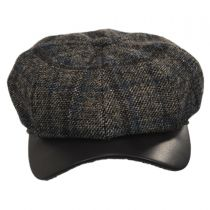 Vintage Shetland Wool Check Newsboy Cap alternate view 2