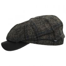 Vintage Shetland Wool Check Newsboy Cap alternate view 7