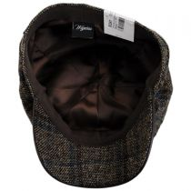 Vintage Shetland Wool Check Newsboy Cap alternate view 8
