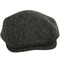 Donegal Dark Gray Shetland Earflap Wool Ivy Cap alternate view 2