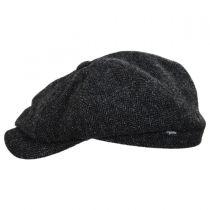 Classic Shetland Wool Herringbone Newsboy Cap in