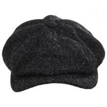 Classic Shetland Wool Herringbone Newsboy Cap alternate view 26