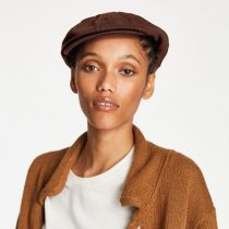 Brood Solid Wool Blend Newsboy Cap in