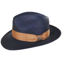 Mikonos Grade 3 Panama Straw Fedora Hat alternate view 3