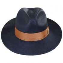 Mikonos Grade 3 Panama Straw Fedora Hat alternate view 14