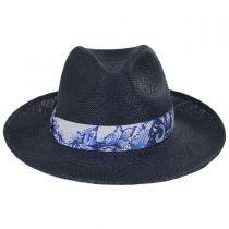 Azul Grade 3 Panama Straw Fedora Hat alternate view 2