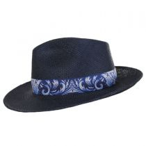 Azul Grade 3 Panama Straw Fedora Hat alternate view 11