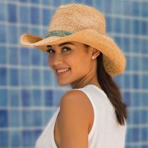 Renegade Raffia Straw Western Hat in