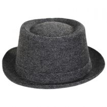 Micro Herringbone Wool Blend Pork Pie Hat alternate view 2