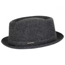 Micro Herringbone Wool Blend Pork Pie Hat alternate view 3