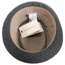 Micro Herringbone Wool Blend Pork Pie Hat alternate view 4