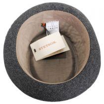 Micro Herringbone Wool Blend Pork Pie Hat in