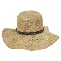 Macademia Raffia Straw Swinger Hat in