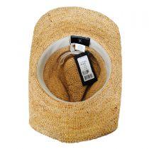 Sierra Raffia Straw Western Hat in