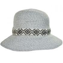 Diamante Toyo Straw Cloche Hat alternate view 2