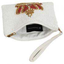 Balmoral Beaded Cotton Zipper Clutch in
