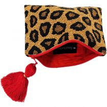 Animal Attraction Beaded Cotton Zipper Clutch alternate view 3