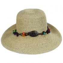 Del Toyo Straw Blend Facesaver Hat in