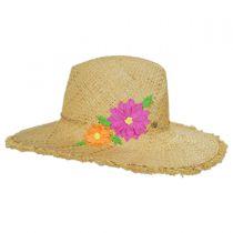 Birdrock Raffia Straw Fedora Hat alternate view 7