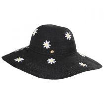 Carolina Daisy Toyo Straw Floppy Hat in