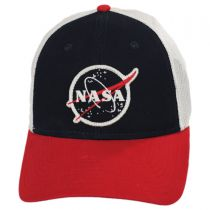 Roughage NASA Mesh Trucker Snapback Baseball Cap alternate view 3