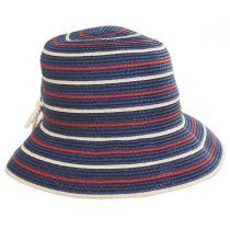 Sebastin Toyo Straw Blend Cloche Hat in