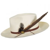 Tallahassee Shantung Straw Fedora Hat in