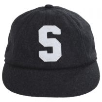 S Logo Wool Blend Fitted Baseball Cap in