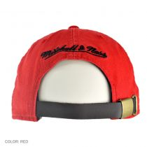 Chicago Bulls NBA Vintage Slouch Leather Strapback Baseball Cap