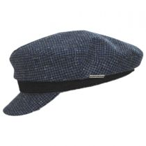 Check Wool Fiddler Cap in