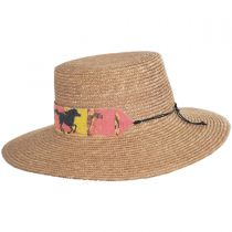 Wild Horses Milan Straw Boater Hat in