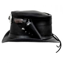 Peacekeeper Leather Top Hat in