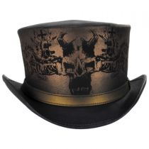 Heretic Leather Top Hat in