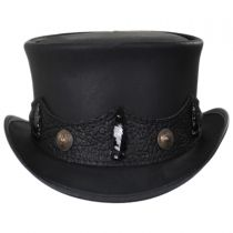 Crazy Horse Leather Top Hat in