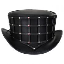 Reversible Cage Leather Top Hat alternate view 7
