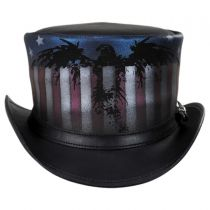 USA Leather Top Hat in
