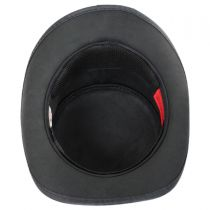 Burlesque Leather Top Hat in