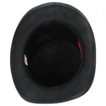 Calavera Band Leather Top Hat in