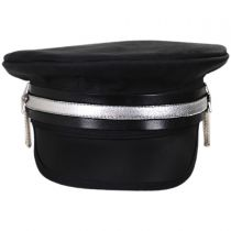 Shooting Star Leather Military Peaked Cap in